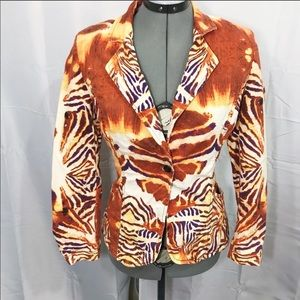 Roberto Cavalli Just Animal Print Blazer